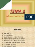 Tema 2. Plásticos y Nuevos Materiales