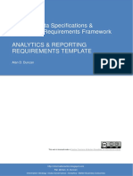 Analytic and Reporting Requirements Template