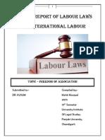 Mohit Labour Law Project 10th Sem