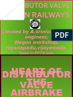 Distributor Valve,indian railways.
