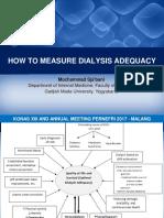 How to Measure Dialysis Adequacy - Edit 3
