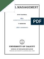 VI Sem. BBA - Marketing Specialisation - Retail Management(3)