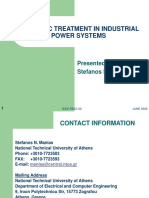 Harmonic Treatment in Industrial Power