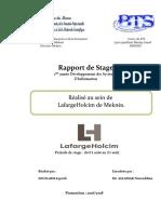 Rapport de Stage LafargeHolcim - Meknes 2018