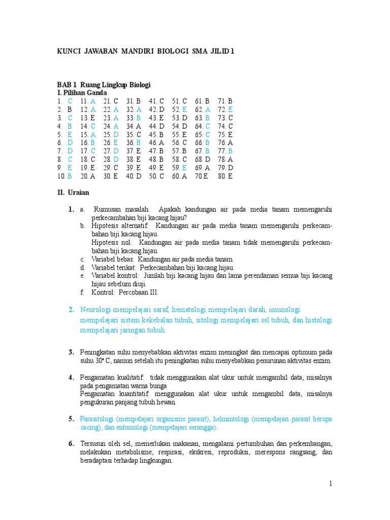 Kunci Jawaban Biologi Kelas 12 Guru Galeri