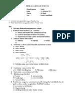 Pts Kimia Kelas Xi 2017