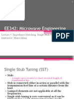 Stub Tuning - Microwave Engineering