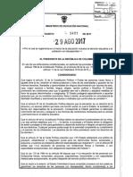 Decreto 1421 de 2017