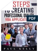 7 Steps to Creating Professional Quality Vba Applications