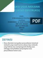 Obstruksi Usus Mekanik Akut (Ileus Obstruksi)