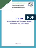 Ghid Privind Elaborarea Și Perfectarea Tezei de Licență La Specialitatea 364