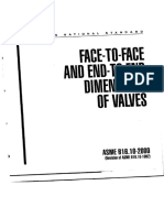 Face-To-face and End-To-End Dimensions of Valves Asme b16