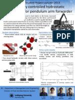 Secondary Controlled Hydrostatic Transmission for Pendulum Arm Forwarder
