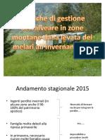 Gestione Alveare Zone Montane 2015