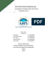 Laporan Praktikum Farmakologi_Kelompok 6_Anestetik Umum_Farmasi a 2014