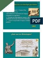 Introduccion a La Etimologia Grecolatina