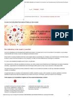Plan d'Accélération Industrielle 2014-2020 - Ministère de l'Industrie, Du Commerce, De l'Investissement Et de l'Economie Numérique