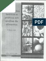Fundamentos Teoricos e Praticos Em Analise de Alimentos 2ª Ed PDF