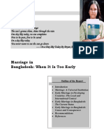 Early Marriage in Bangladesh