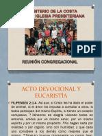 TERCERA IGLESIA REUNIÓN CONGREGACIONAL
