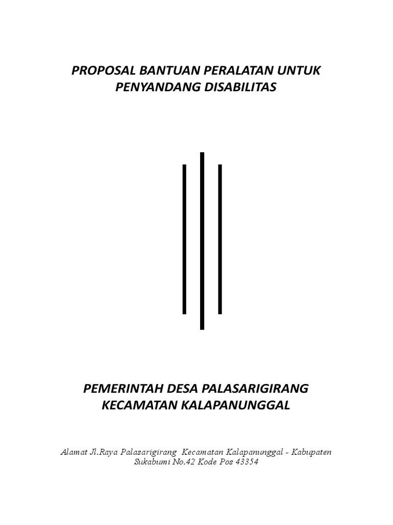 Contoh Proposal Bantuan Kursi Roda Ke Dinas Sosial Berbagi Contoh Proposal
