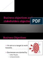 Business Objectives and Stakeholders Objectives Presentation