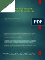 Protezarea Imediata in Tratamentul Complex Al Afectiunilor Parodontale