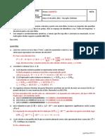 Primeira Prova - Cálculo Numérico