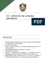03_Definición de Unidades Geologicas