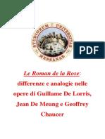 Le Roman de La Rose (Guillame de Lorris, Jean de Meung e Geoffrey Chaucer)