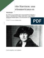 Marguerite Harrison, Una Espía Nortemericana