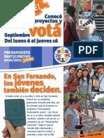 Presupuesto Participativo Joven - Suplemento Elecciones 2010