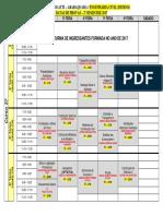 Datas de Prova P1 Civil Diurno - 2017-2