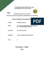 El Proceso Administrativo Disciplinario de Los Servidores Públicos