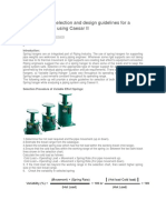 Spring Hanger Selection and Design Guidelines for a Piping Engineer Using Caesar II
