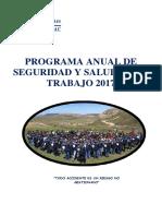 Programa Anual de Seguridad y Salud en El Trabajo