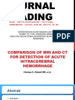 Comparison of mri and ct for detection of acute intracerebral hemorrhage
