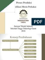 1503011 Muhammad Mufti Klasifikasi Mesin Perkakas 1