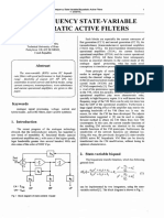 High Frequency State-Variable Biquadratic Active Filter - T. Dostal (1998)