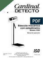 Manual Bascula Tallimetro Mecanica