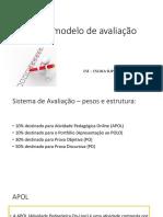 Tutorial- Novo Modelo de Avaliação