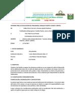 Informe Final de Aplicación Del Programa