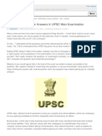 Tips for Writing Better Answers in Upsc Main Exami