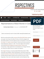 Representations of Black Women in Cuba- Great Article !