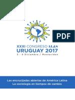 Programa XXXI Congreso de la Asociación Latinoamericana de Sociología