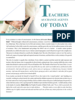 Teacher's As Change Agents of Today
