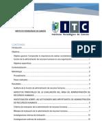 Reporte de Investigacion Evaluacion de La Funcion de La Administracion