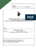 Biodata Form
