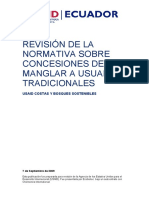 09-09-07 - Revision Normativa Concesiones de Manglar