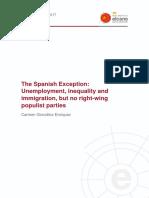 WP3 2017 GonzalezEnriquez Spanish Exception Unemployment Inequality Inmigration No Right Wing Populist Parties
